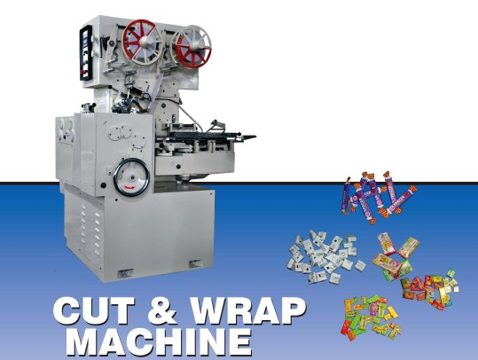 Cut wraping machine pack bubble gum, chewy candy and toffee products