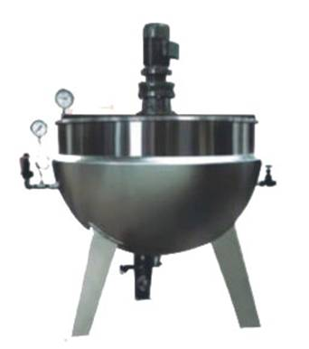Jacketed Steam Sugar Cooking Pot with Stirrer